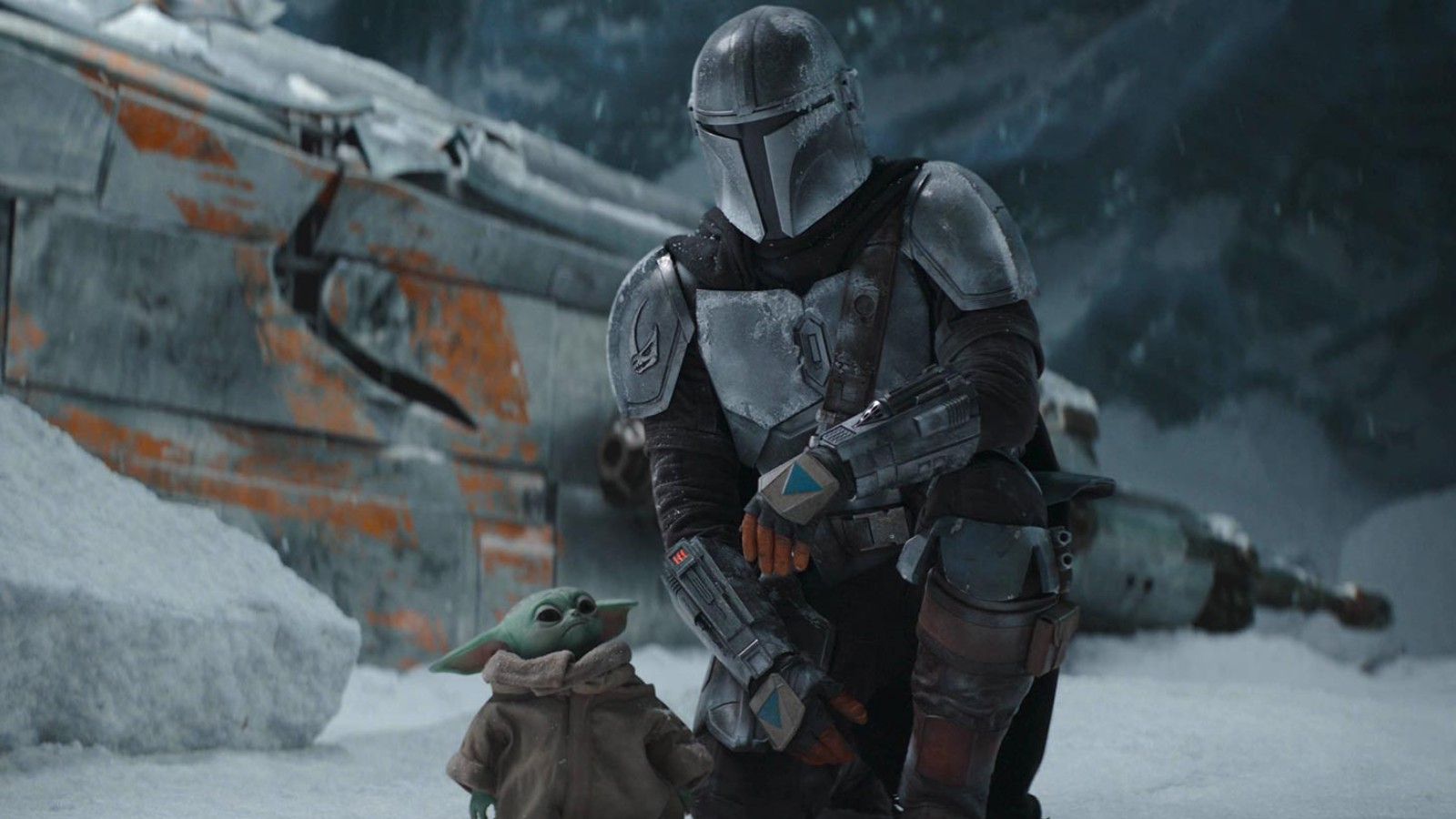 The Mandalorian and Baby Yoda in episode 2