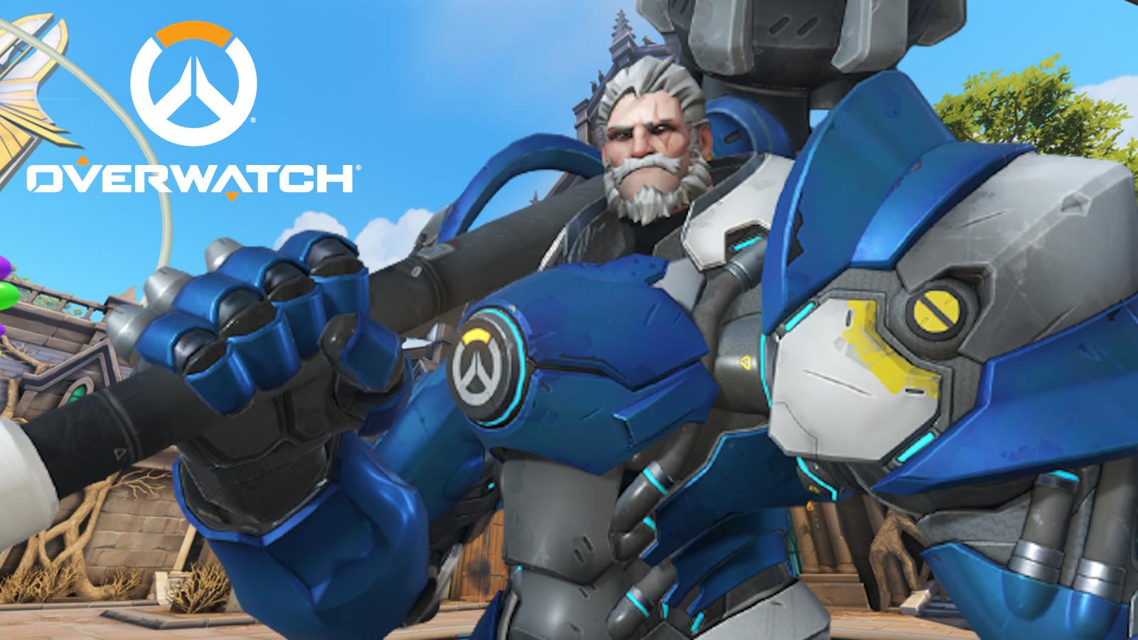 Reinhardt on Blizzard World in Overwatch