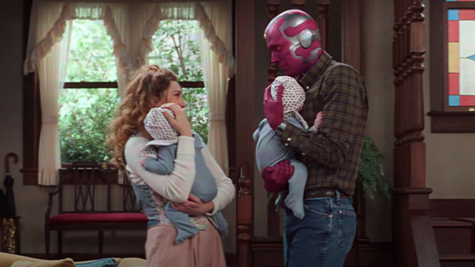Wanda and Vision with twins