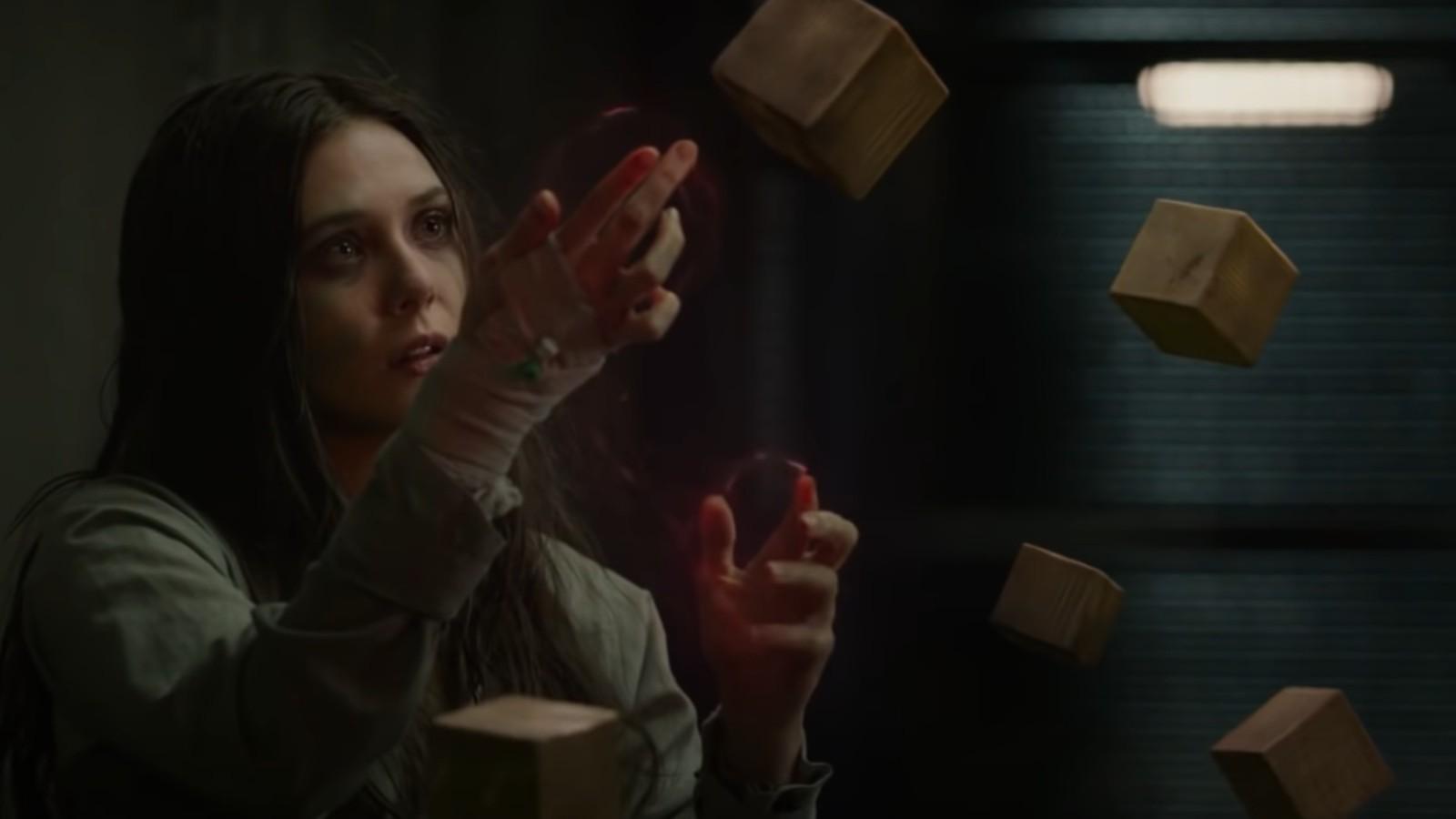 Wanda in Captain America Winter Soldier post credit scene