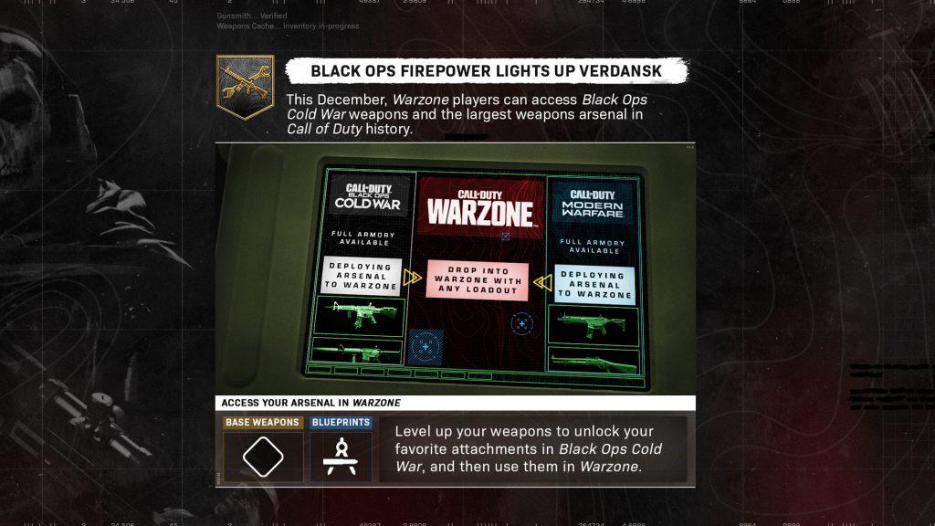 Warzone Black Ops Cold War integration