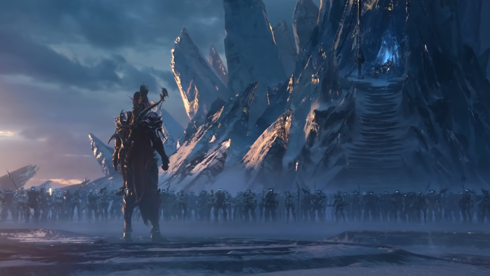 Sylvanas approaches The Lich King to open the Shadowlands.