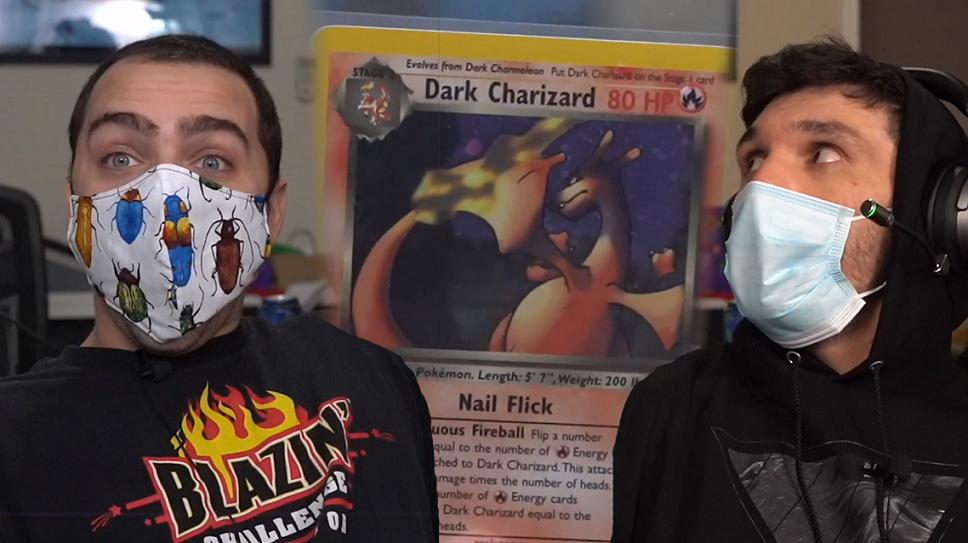 Trainwrecks and Mizkif with Pokemon card