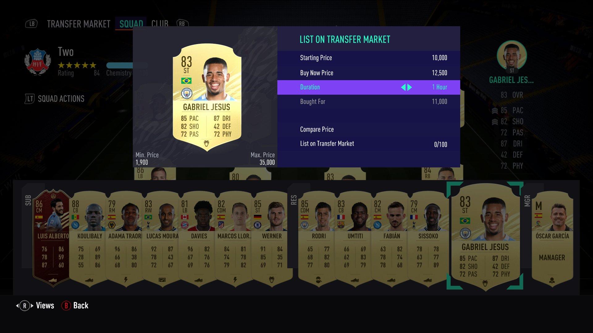 FIFA 21 jesus trading