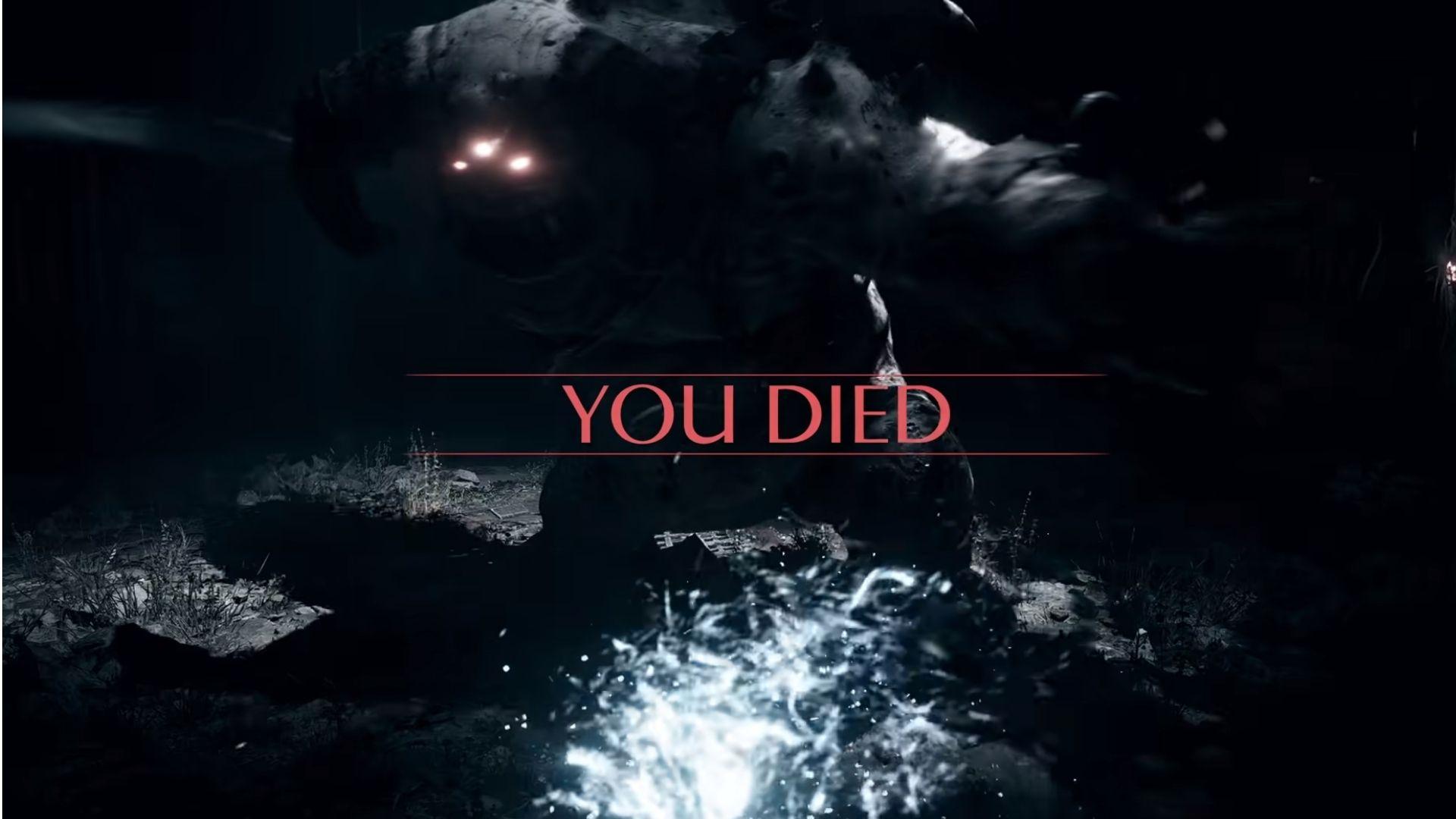 the youd died screen in demon's souls