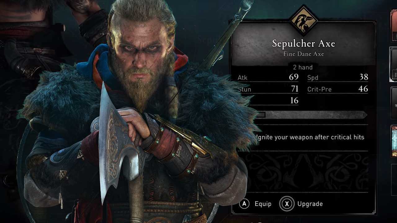 Sepulcher axe assassin's creed valhalla
