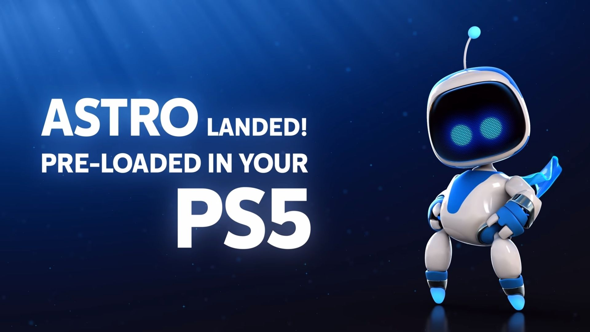 astros playroom comes installed on PS5