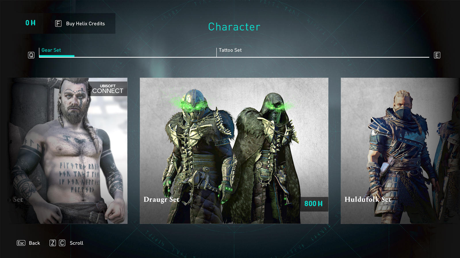 The Draugr set in the Valhalla store