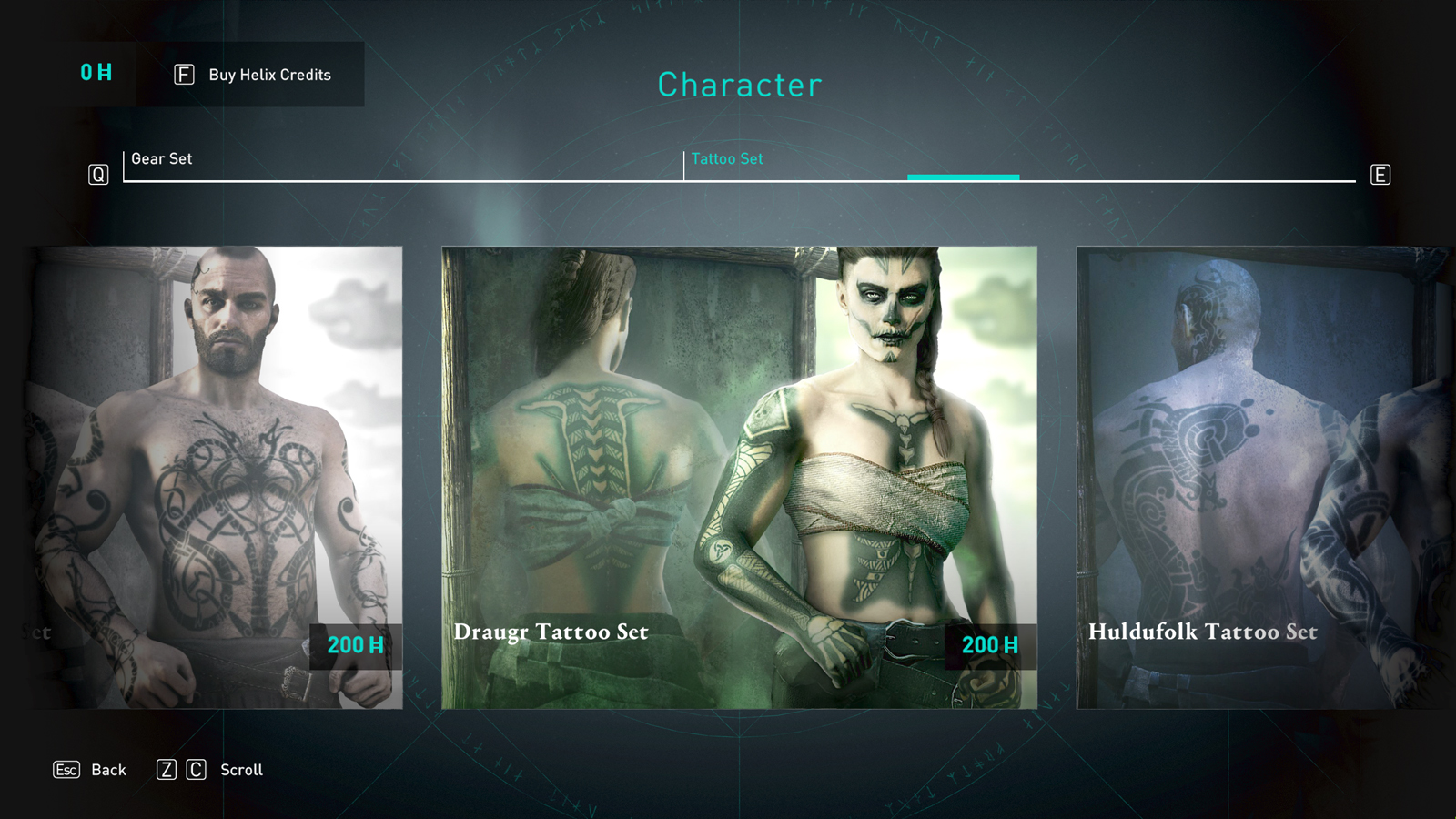 Store image showing the Draugr Tattoo set