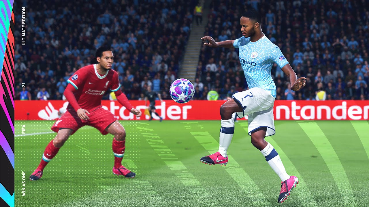 FIFA 21 next gen trailer screenshot Virgil Van Dijk and Raheem Sterling