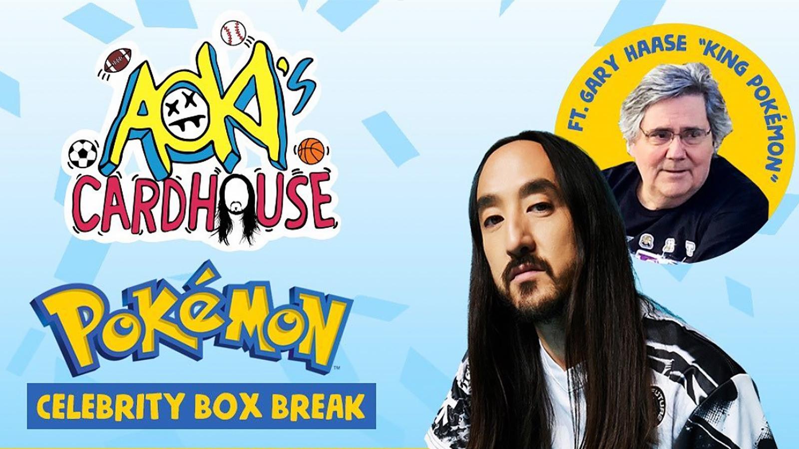 steve aoki pokemon card poster