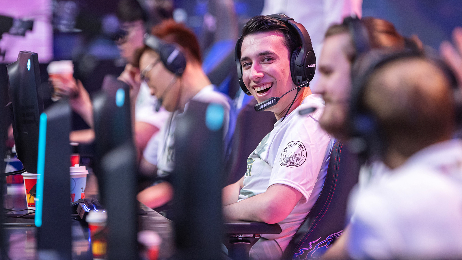 PowerOfEvil smiles playing for FlyQuest at Worlds 2020.