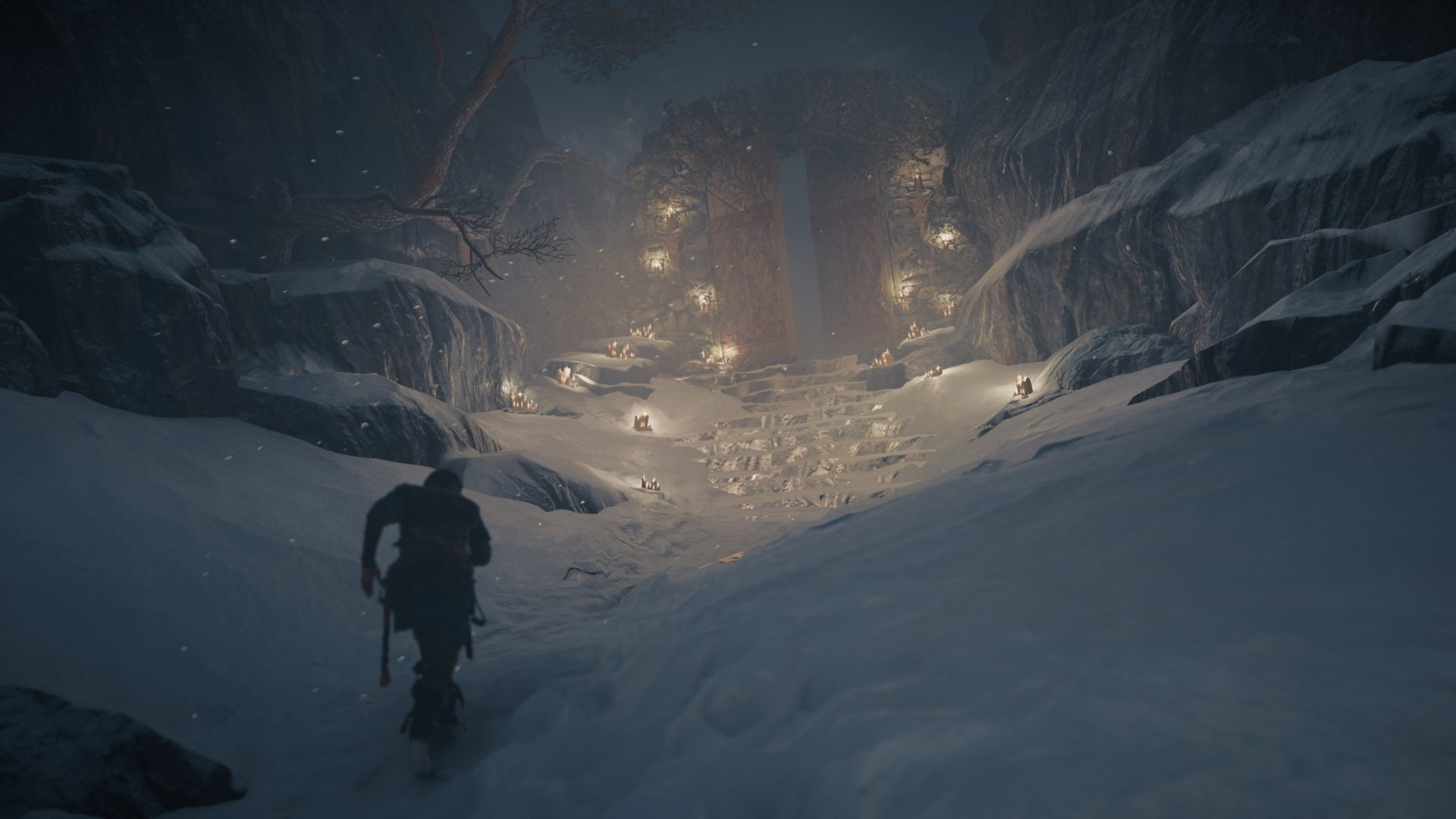 Assassin's Creed Valhalla review image of night