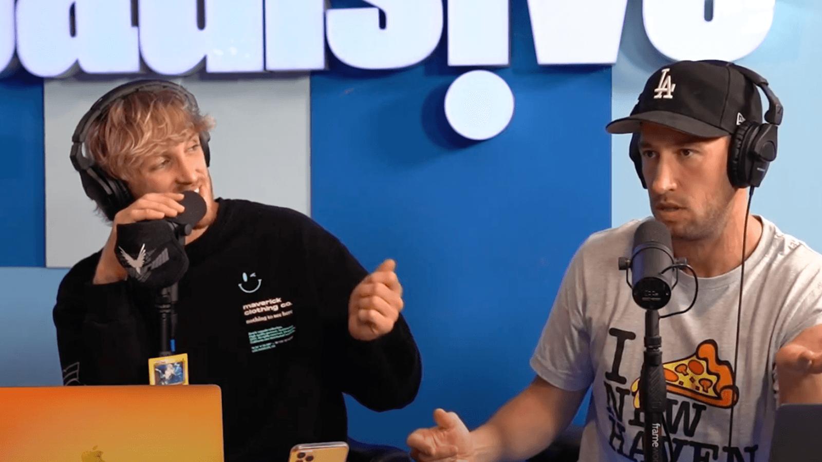 Logan Paul and Mike Majlek on Impaulsive podcast