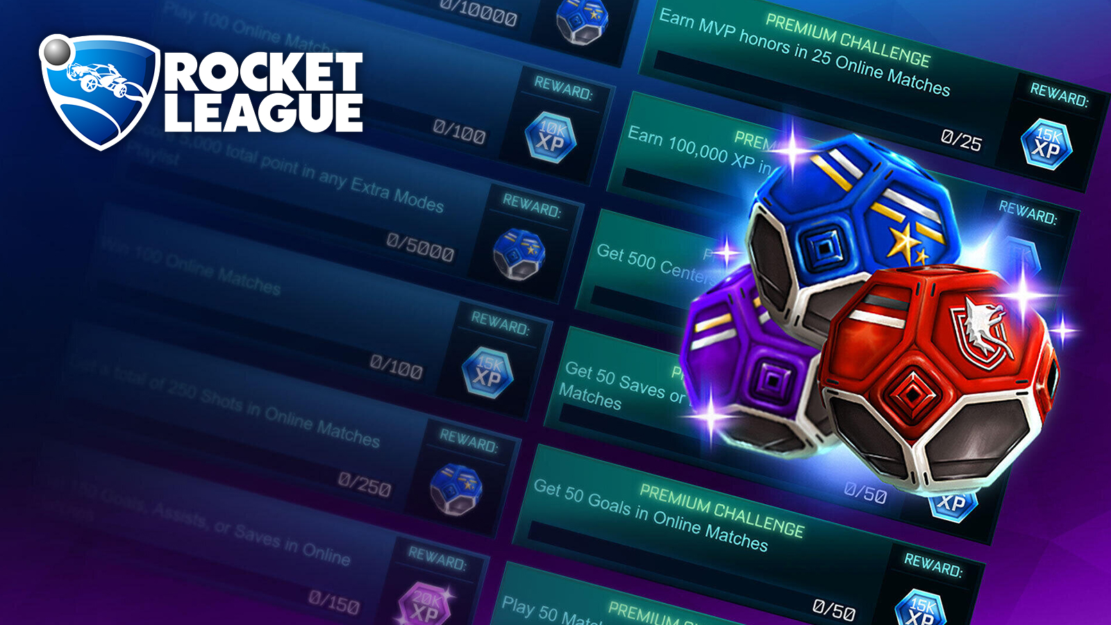 Rocket League Season 1 Tournament Challenges