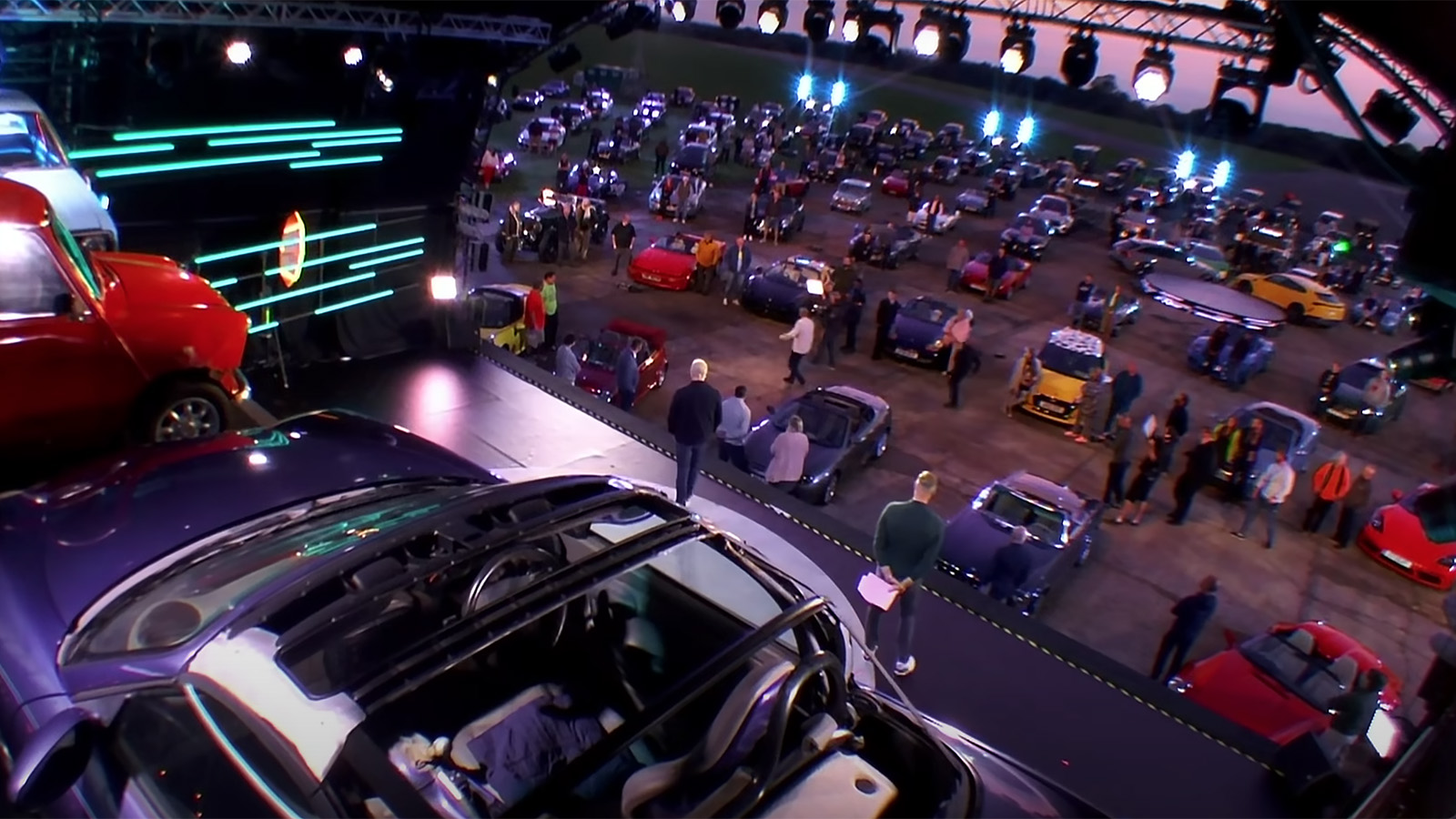 Top gear drive in audience
