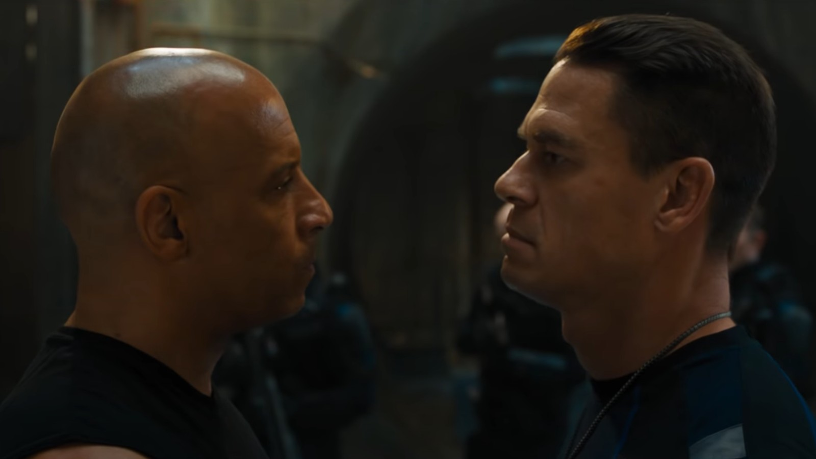 Vin Diesel and John Cena in Fast and Furious 9 F9