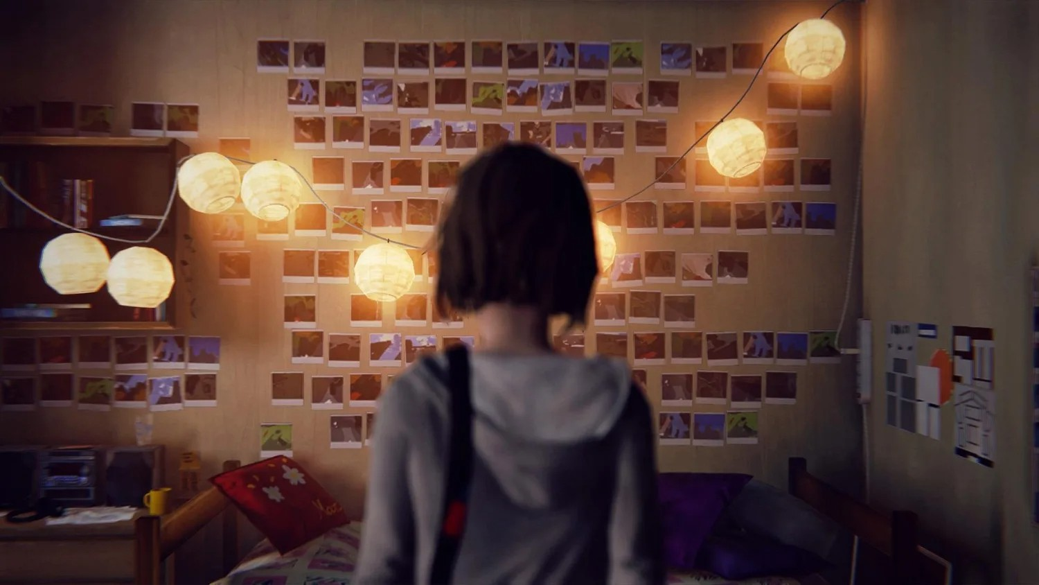 Life is Strange's Max faces a wall of photographs
