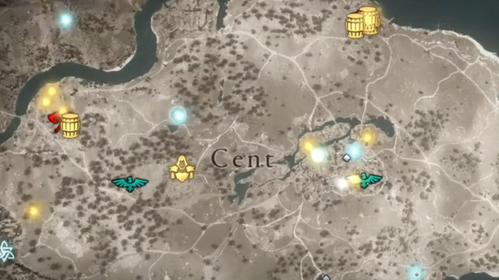 Cent map location