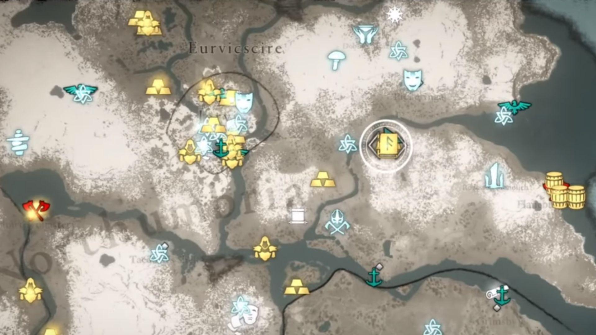 Eurvicscire map location