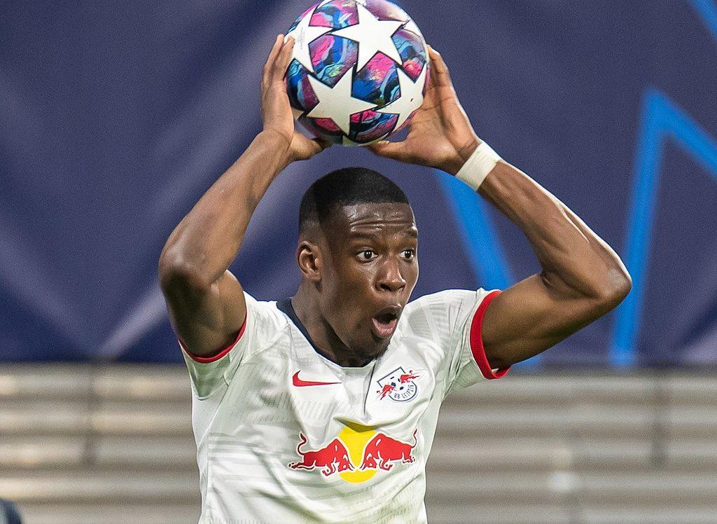 RB Leipzig Nordi Mukiele throw in