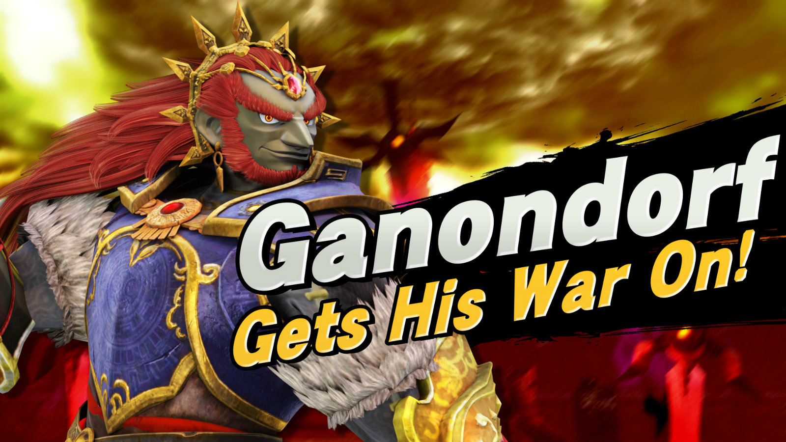 Ganondorf Smash Ultimate arrival screen
