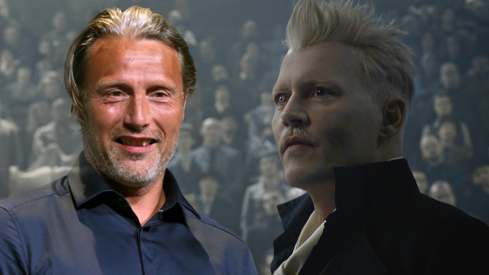Mads Mikkelsen and Johnny Depp in Fantastic Beasts