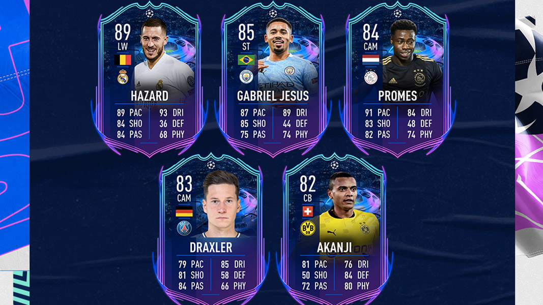 Road to the Final UCL cards team 2