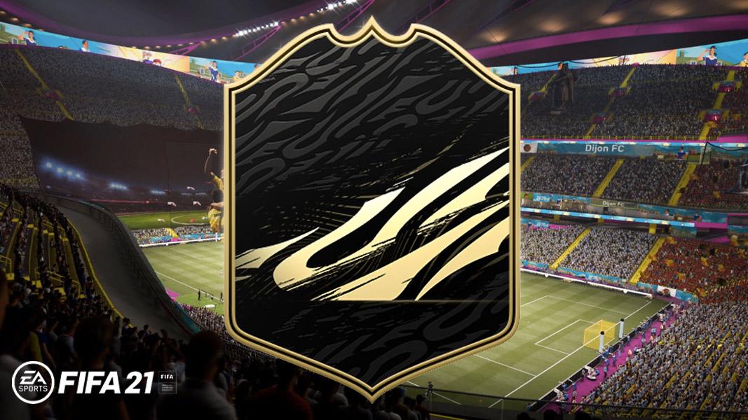 FIFA 21 TOTW card on a stadium