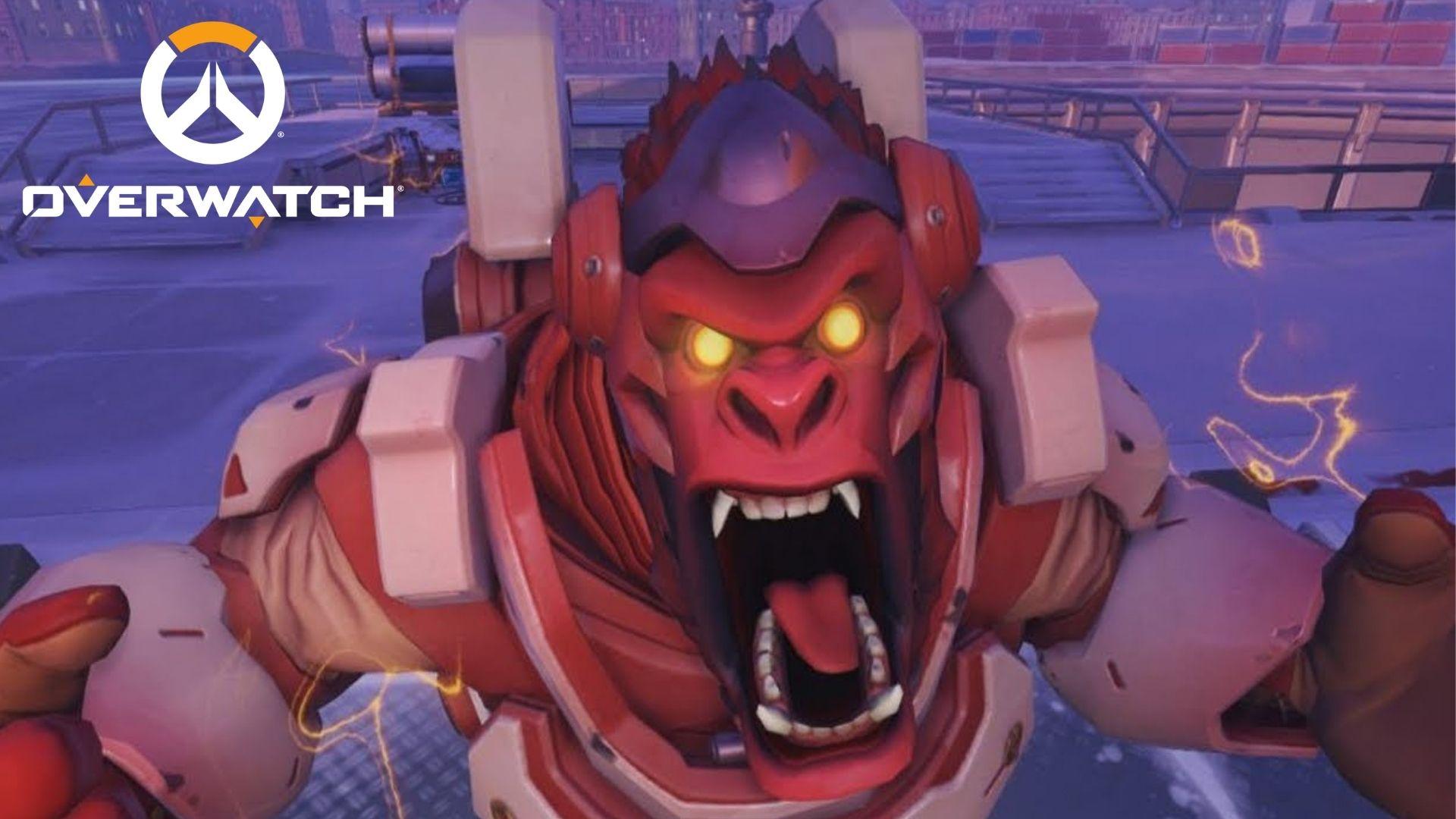 Winston screaming in Overwatch