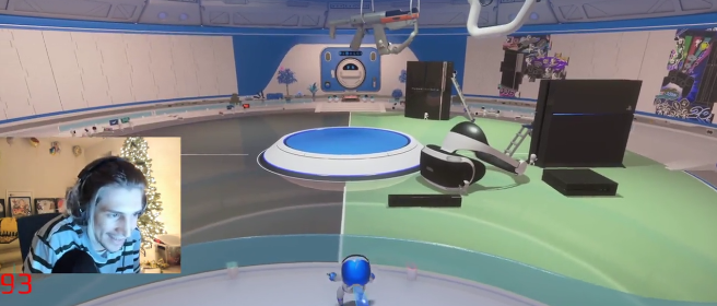 xQc plays Astro playroom