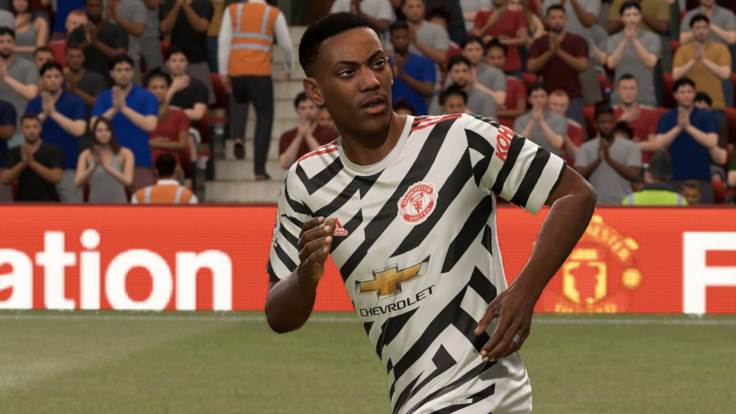 Martial in Manchester United's third kit in FIFA 21