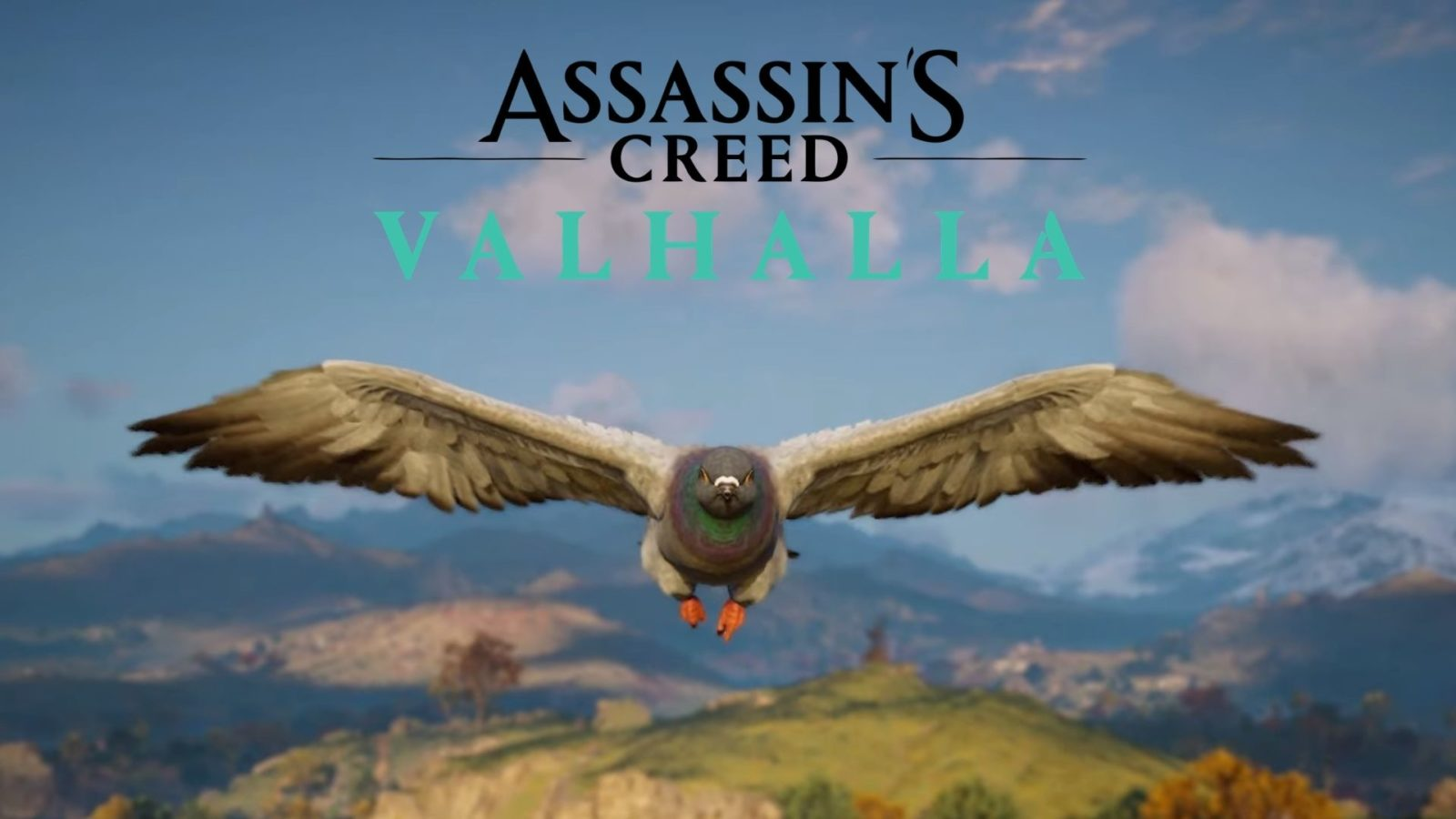 synin as a pigeon in ac valhalla