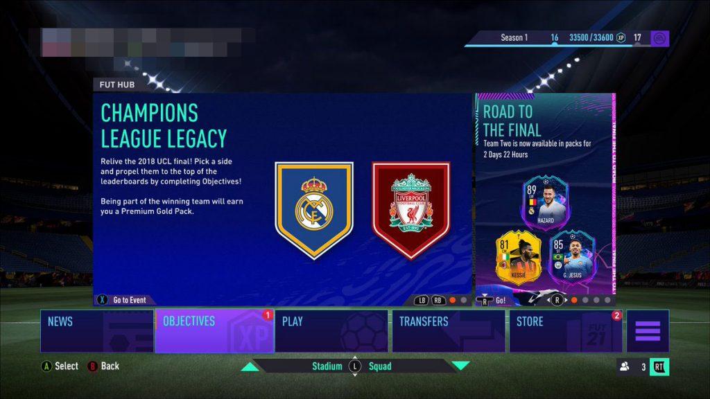 FIFA RTTF Knockout objective