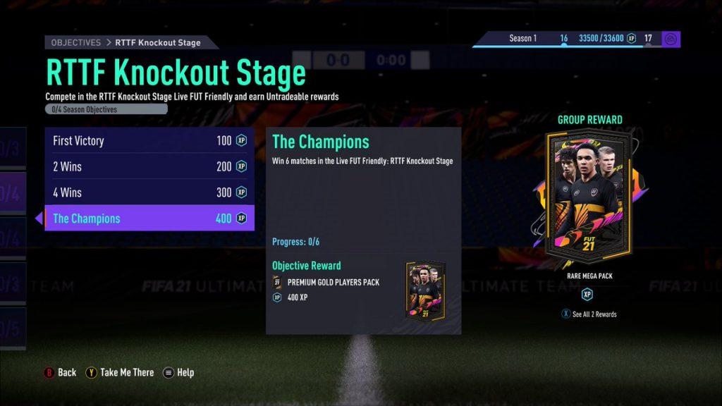 RTTF Knockout Stage Objectives