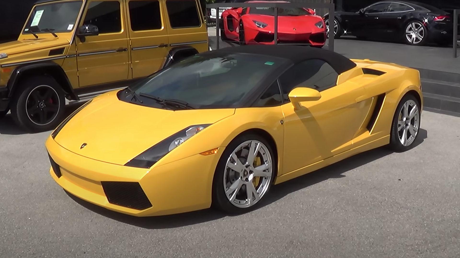Lamborghini Gallardo yellow