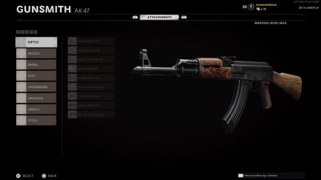 AK47 in Black Ops Cold War
