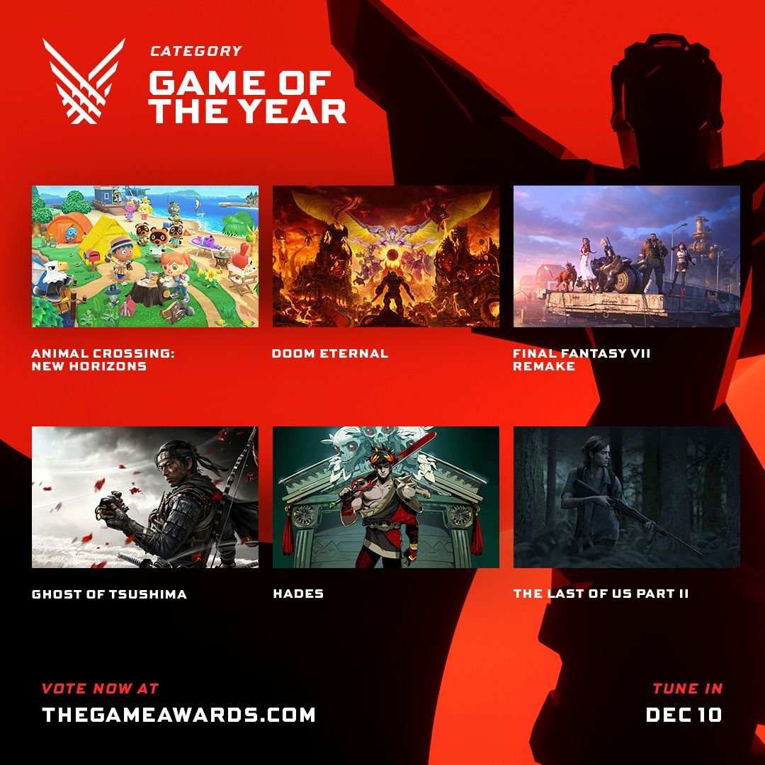 Game Awards 2020 nominees