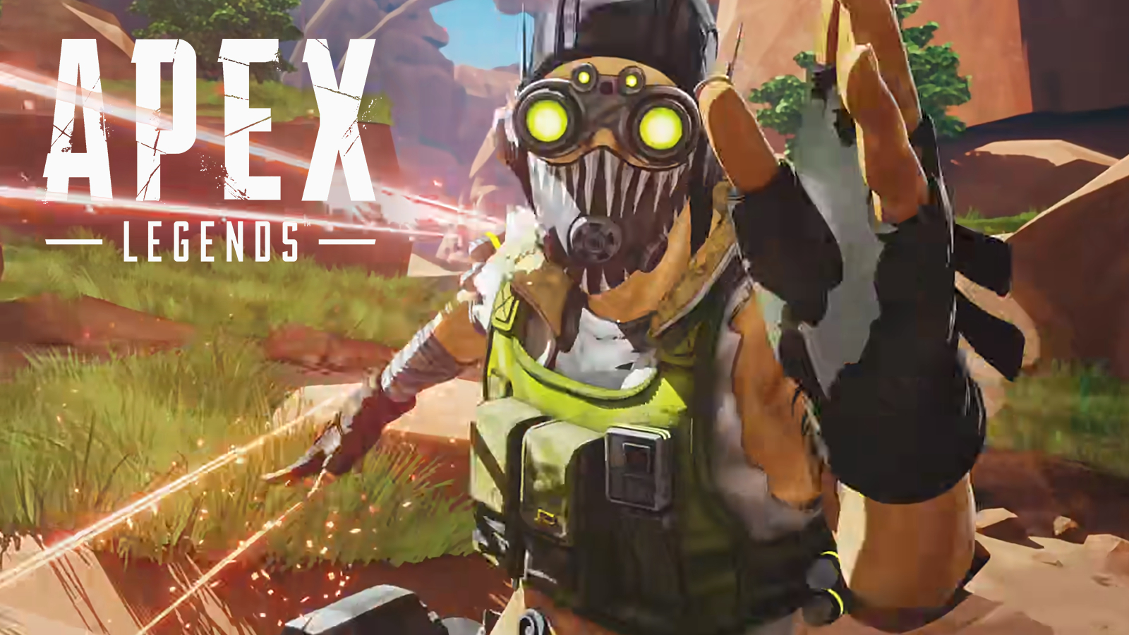 Octane running in Apex Legends Kings Canyon.
