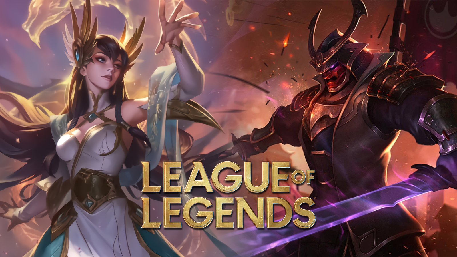 Divine Sword Irelia and Warlord Shen in League of Legends