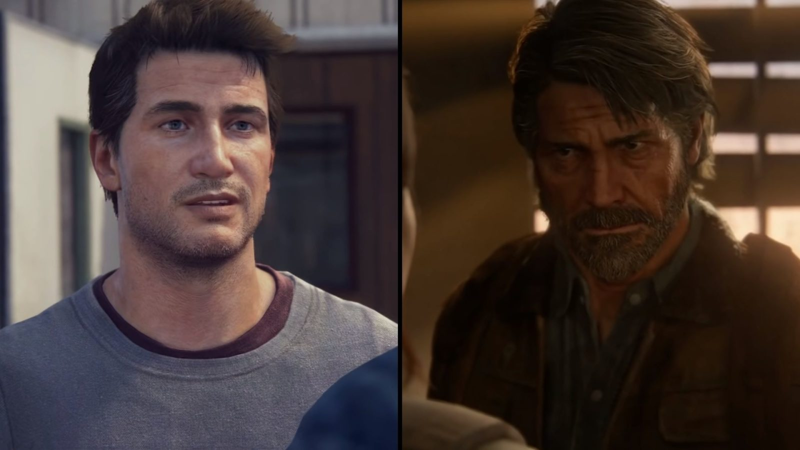 nathan drake and joel miller from uncharted and TLOU