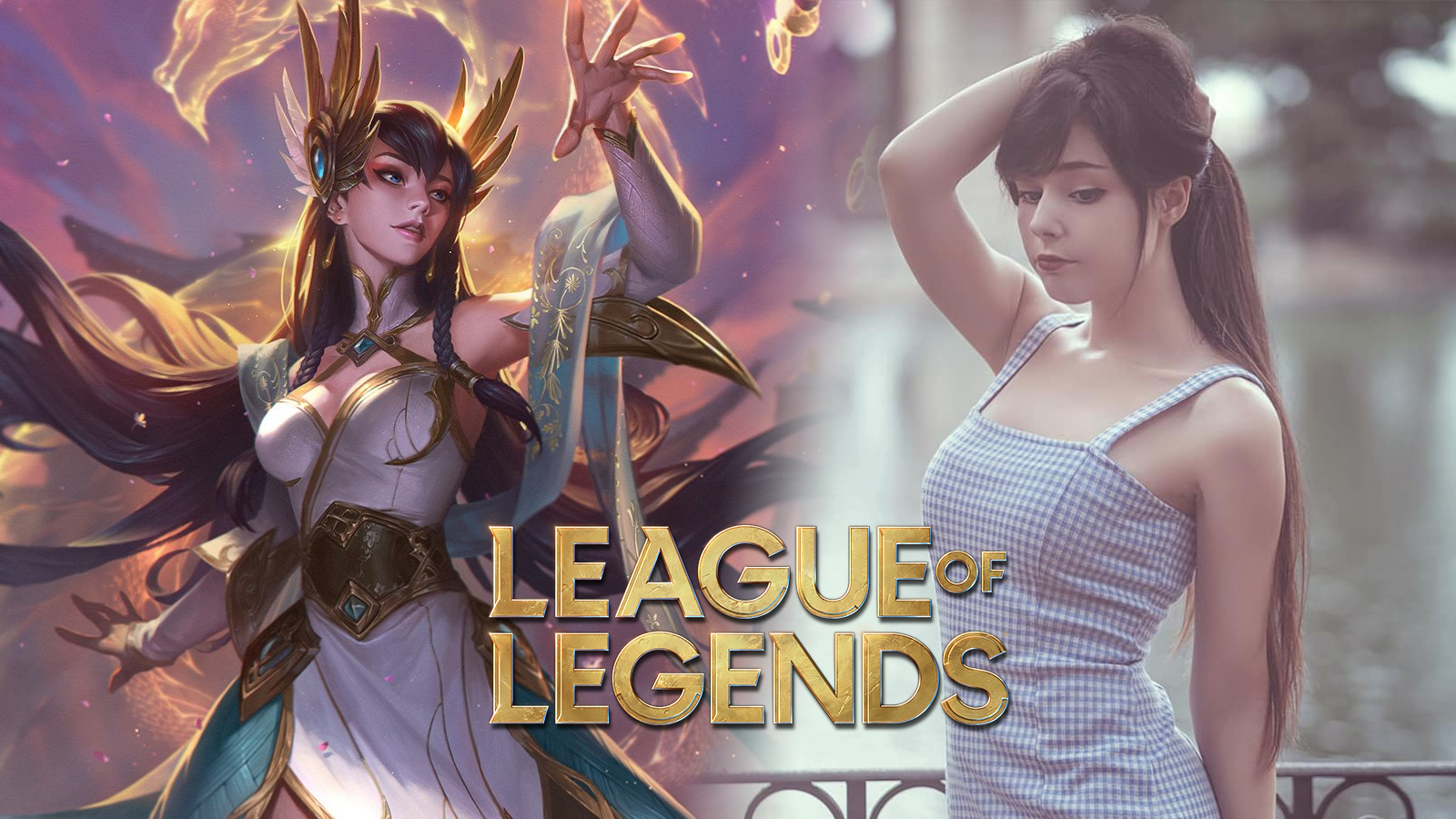 Divine Sword Irelia in League of Legends and cosplayer nymphahri