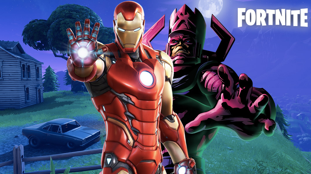 Galactus and Iron Man in Fortnite
