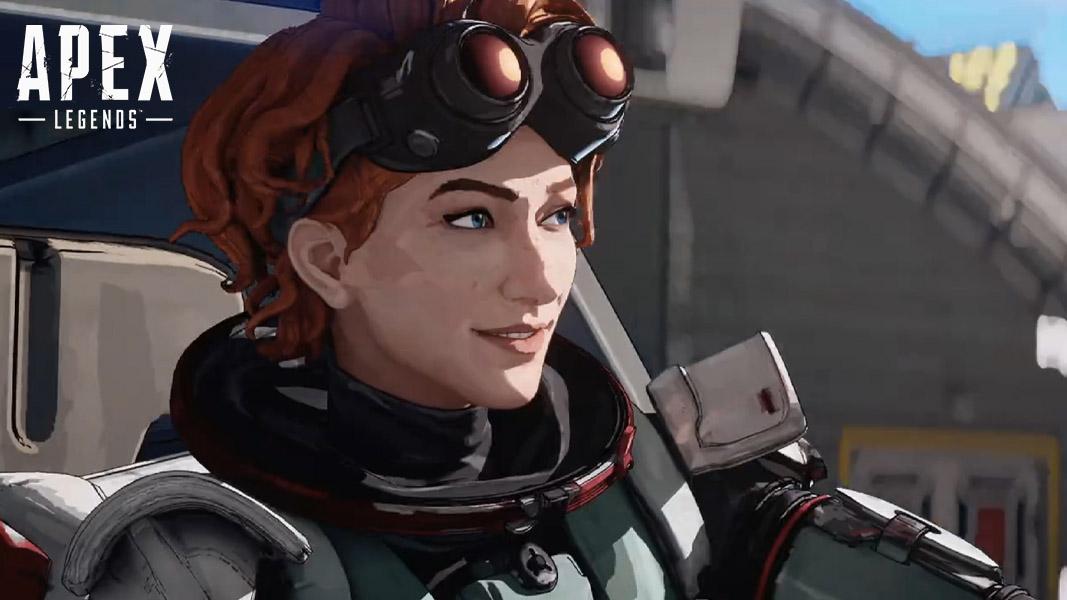 Horizon smiling in Apex Legends