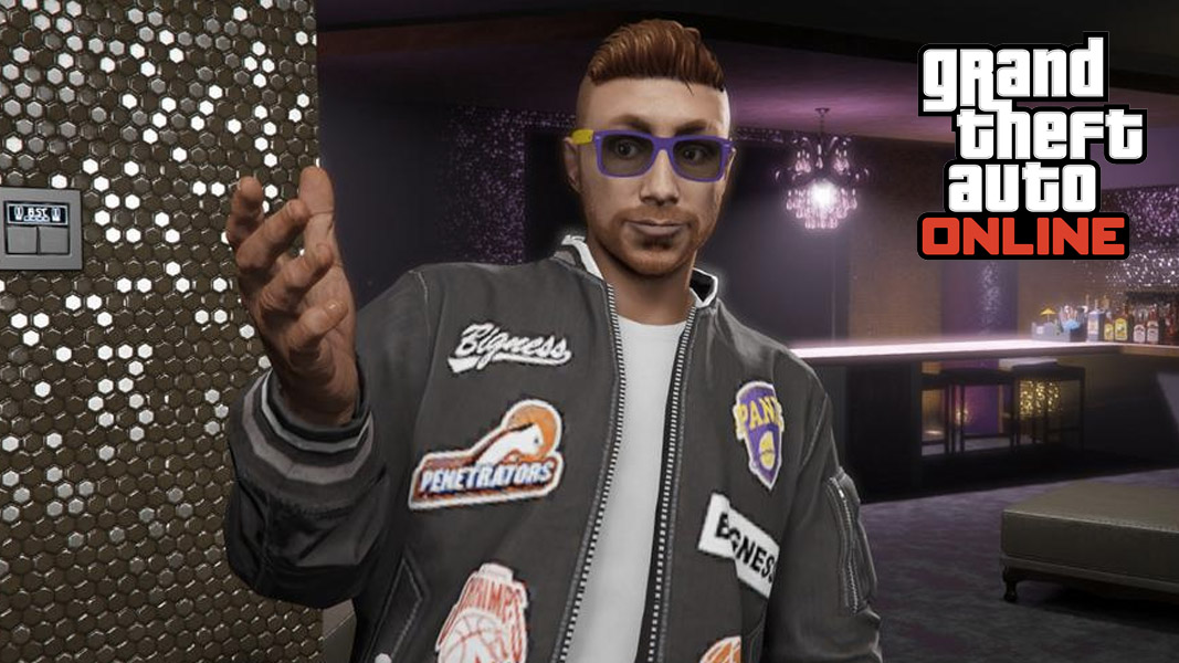GTA Onlne charatcer in a nightclub