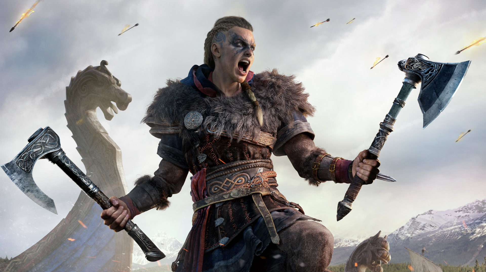 Screenshot of Assassin's Creed Valhalla protagonist Eivor.