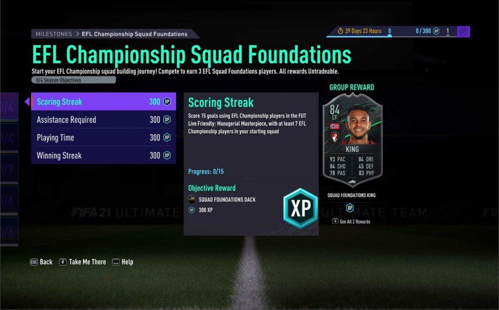 FIFA 21 Ultimate Team EFL Championship Squad Foundations