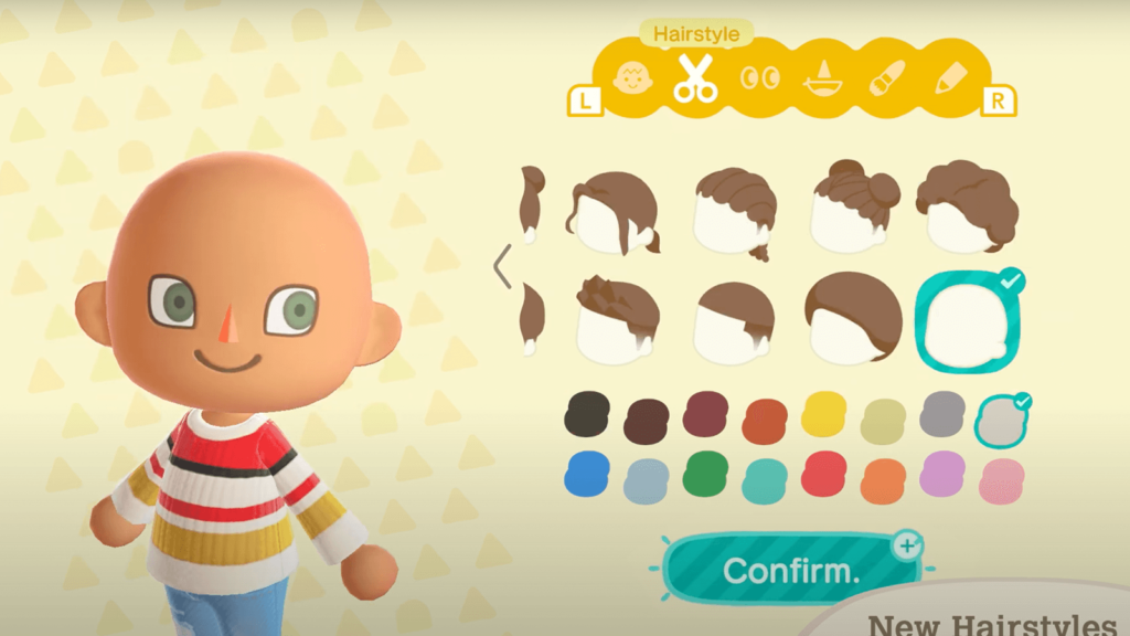 Animal Crossing: New Horizons hairstyle winter update