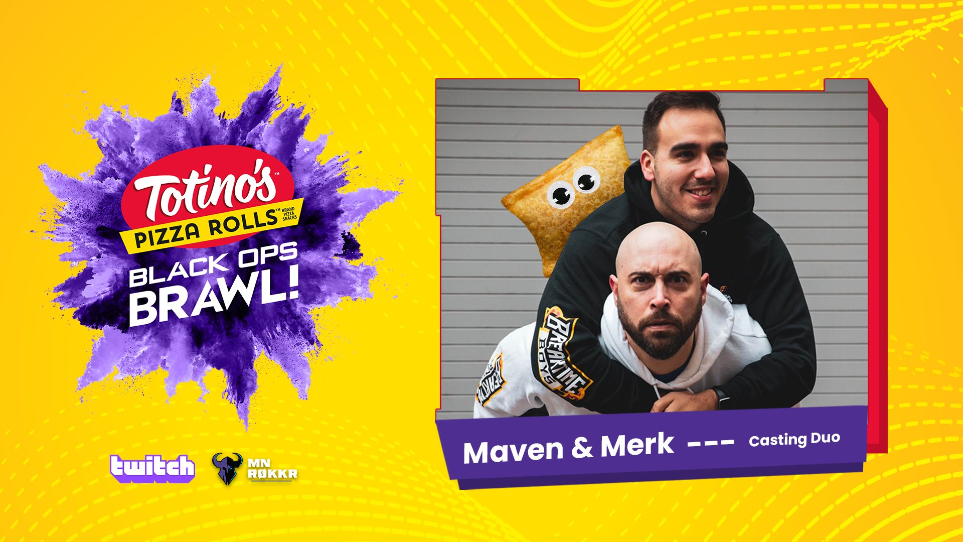 Totino's Black Ops Brawl casters Merk and Maven