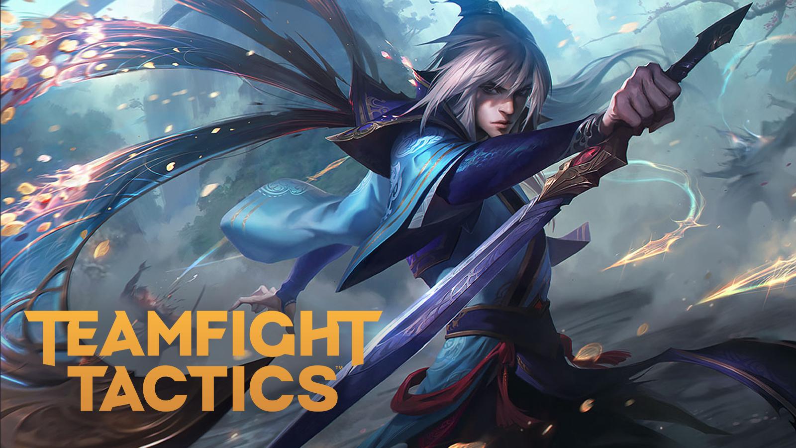 Talon standing over the Teamfight Tactics patch 10.24 logo.